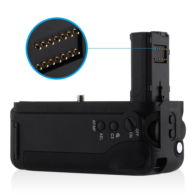 Australia Powerextra VG-C2EM Battery Grip Replacement for Sony Alpha A7II/A7S II/A7R II Digital SLR Camera Work with NP-FW50 Battery