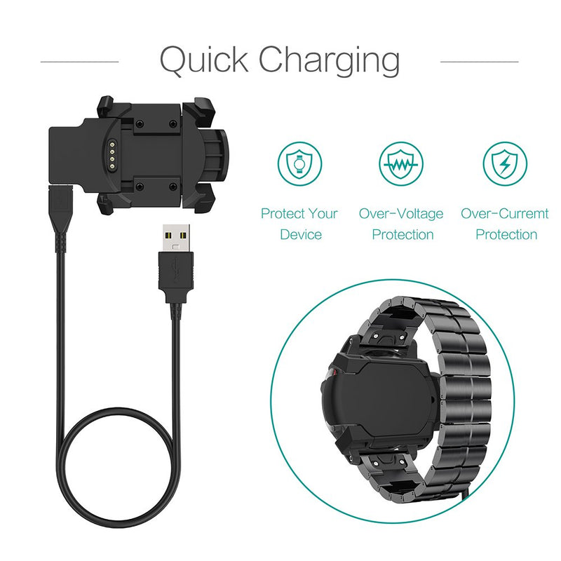 Australia TUSITA Charger for Garmin Fenix 3, Fenix 3 Sapphire, Fenix 3 HR, Quatix 3, Tactix Bravo Smartwatch - USB Charging Cable Clip 100cm - Fitness Tracker Accessories