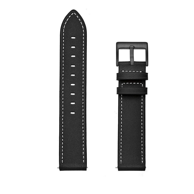 Compatible with Samsung Galaxy Watch 46mm Bands Leather,Gear S3 Bands 22mm Genuine Leather Replacement Strap Watch Band for Samsung Galaxy Watch 46mm Gear S3 Classic/Frontier Smartwatch (Black)