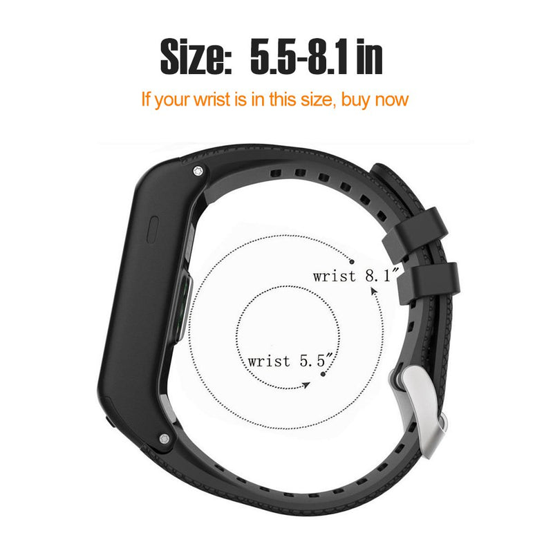 Australia Bossblue Replacement Band for Garmin Vivoactive HR GPS Smart Watch, Silicone Replacement Fitness Bands Wristbands with Metal Clasps for Garmin vivoactive HR GPS Smart Watch