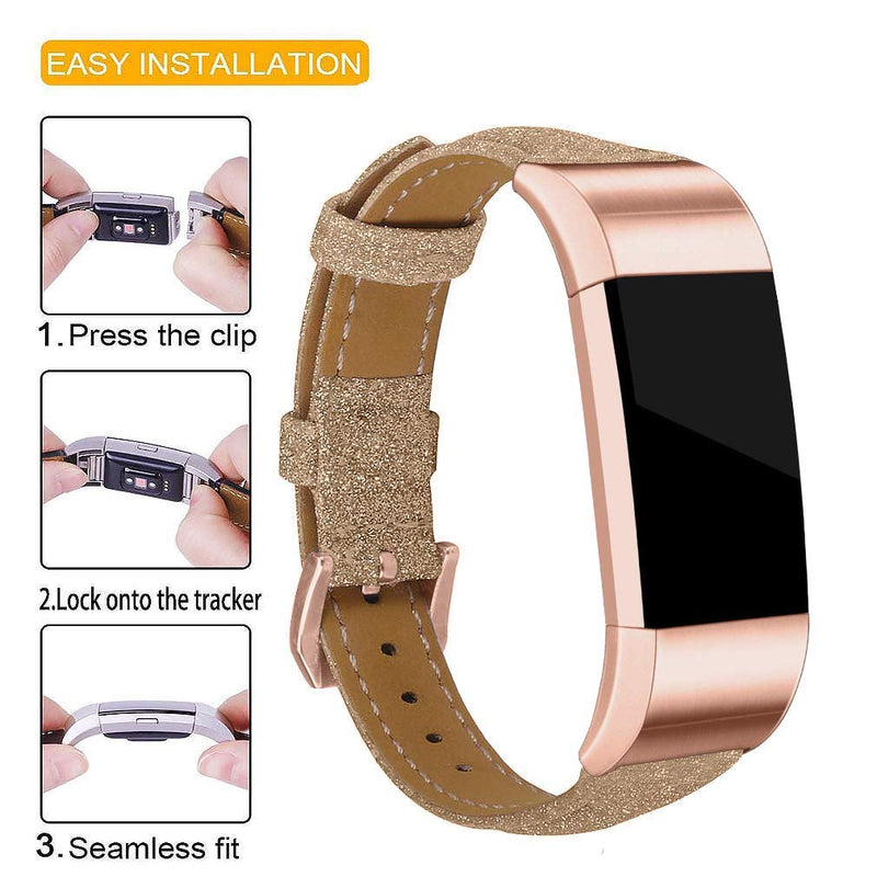 Joyozy Bling Bands Compatible Fitbit Charge 2, Womens Slim Glitter Fitness Wristbands Replacement Accessories Straps