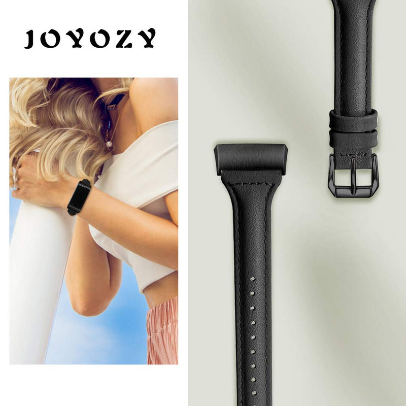 Australia Joyozy Slim Genuine Leather Bands Compatible for Fitbit Charge 3 and Charge 3 SE Smart Watch,Adjustable Classic Replacement Wristband Avaiable 5 Colors