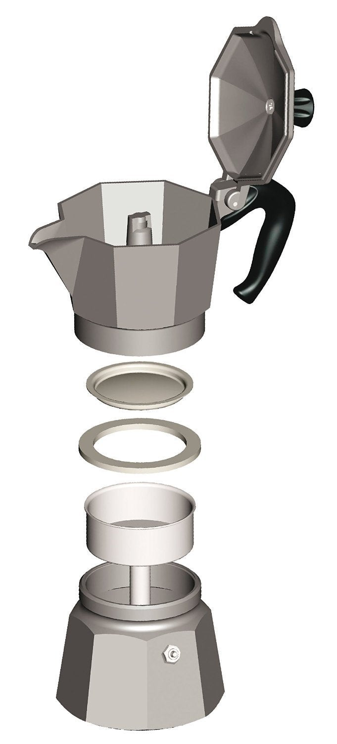 The Original Bialetti Moka Express Made in Italy 1-Cup Stovetop Espresso Maker Australia