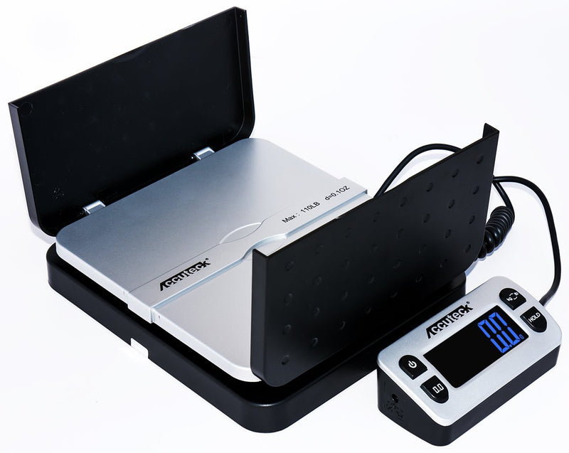 Australia Accuteck ShipPro 110lbs x 0.1 oz. Digital Shipping Postal Scale, Black (W-8580-110-Black)