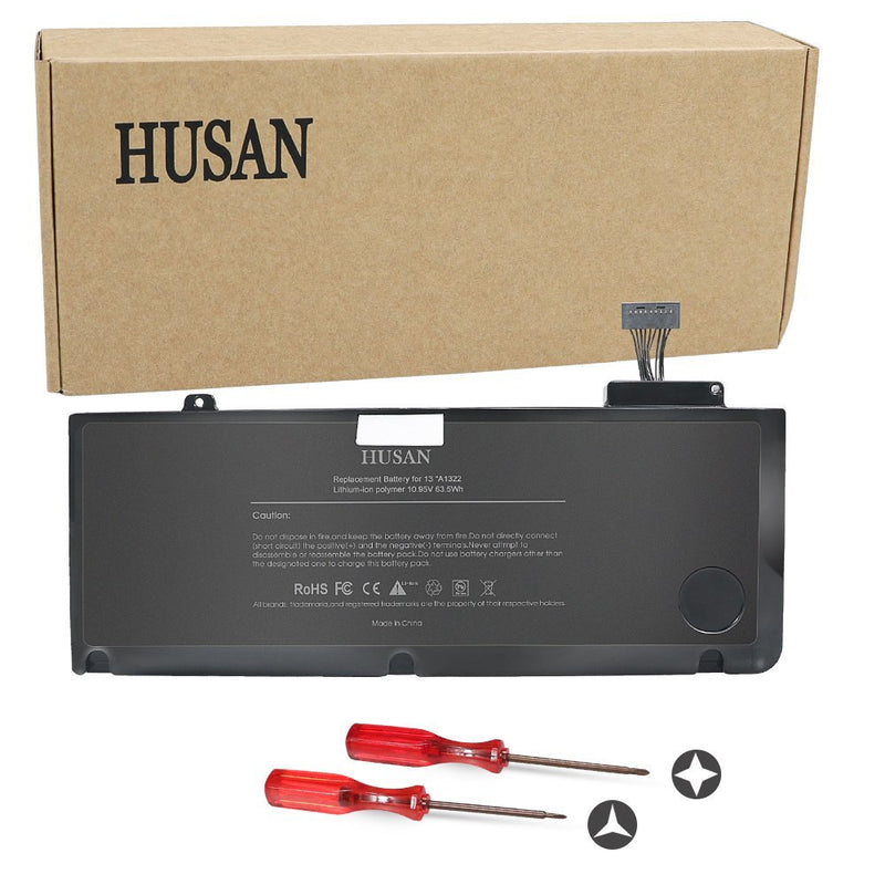 HUSAN Replacement A1322 Laptop Battery for Apple MacBook Pro 13'' A1322 A1278 (2009 2010 2011 2012 Version) 661-5229 661-5557 020-6547-A MB990LL/A