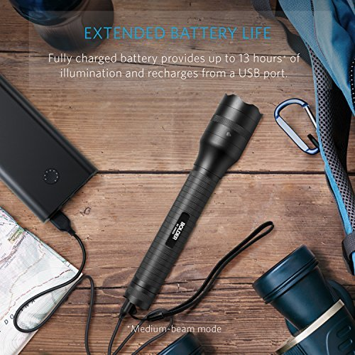 Australia Anker Bolder LC90 2-Cell Rechargeable Flashlight, IP65 Water-Resistant, Zoomable, LED Torch (for Camping and Hiking) with Super Bright 900 Lumens CREE LED, 5 Light Modes, 18650 Battery Included