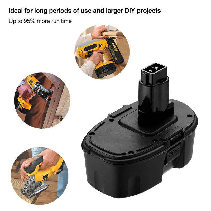 18V 3600mAh Extended Capacity Replacement Battery for Dewalt Ni-Mh XRP DC9096 DC9098 DW9095 DW9096 DW9098 DE9503 Cordless Power Tools 2-Pack
