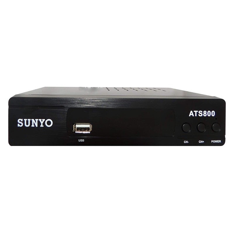 SUNYO ATS800 ATSC Digital TV Converter Box w/ Recording PVR Function / HDMI Out / Coaxial Out / Composite Out / USB Input / LED Time Display (New Model)