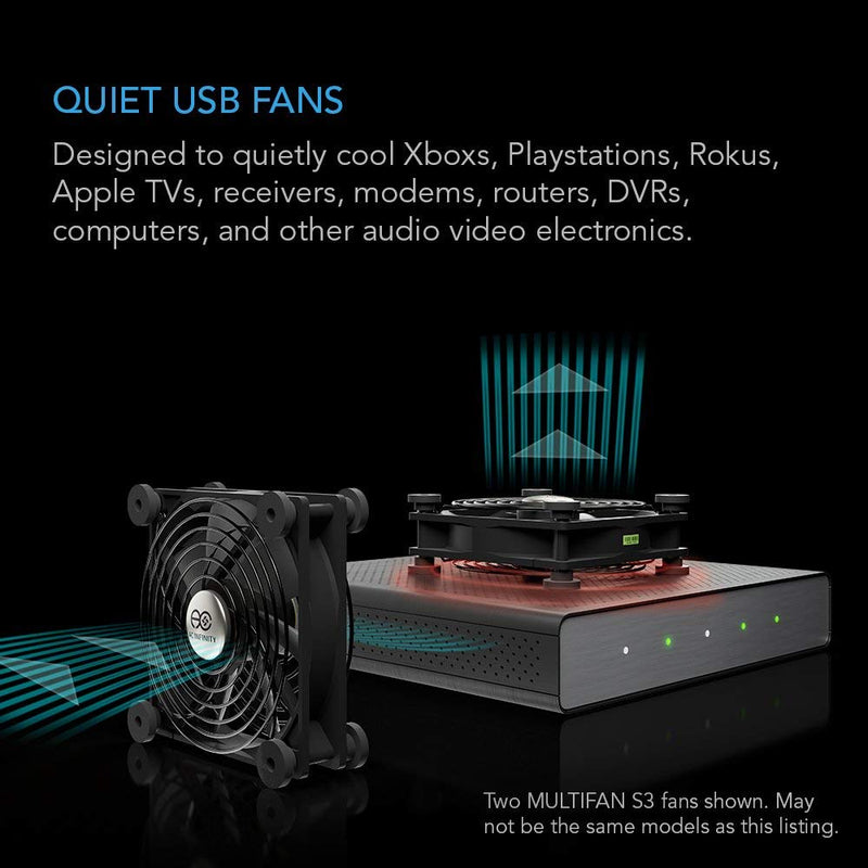 Australia AC Infinity MULTIFAN S1, Quiet 80mm USB Fan for Receiver DVR Playstation Xbox Computer Cabinet Cooling