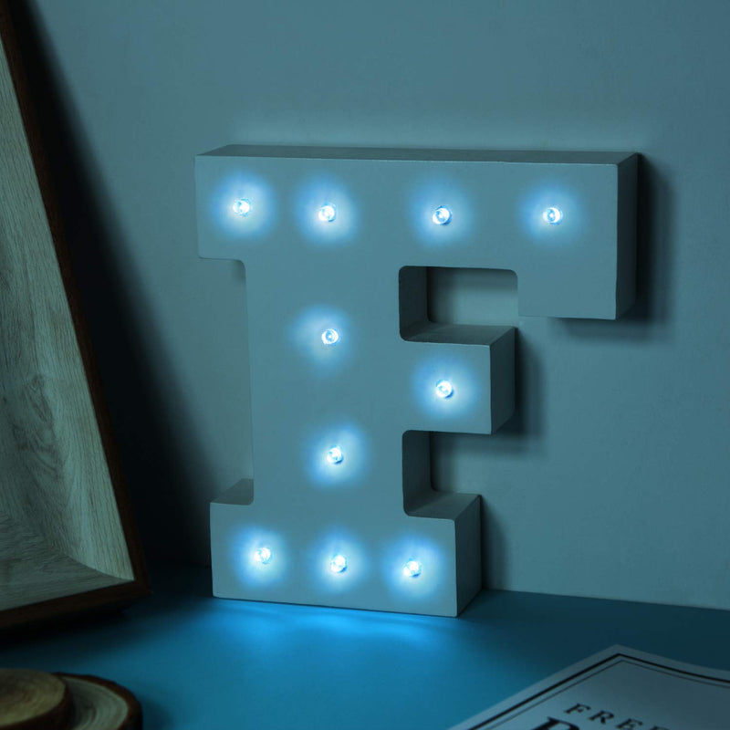 Australia LED Light Up Wooden Alphabet Marquee Wall Letter Night Decorative DIY White Letters Lights Sign With Battery Operated for Festival Party Wedding Holiday Birthday Christmas Valentine Rom (&)