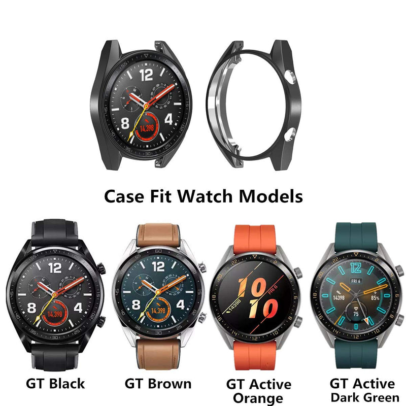 Australia [5-Pack] Compatible with Huawei Watch GT/Active 46mm Watch Case,Soft TPU Plated [Scratch-Proof] All-Around Protective Bumper Shell Cover (Black+Silver+Clear+Gold+Rose Gold) Black+Silver+Clear+Gold+Rose Gold