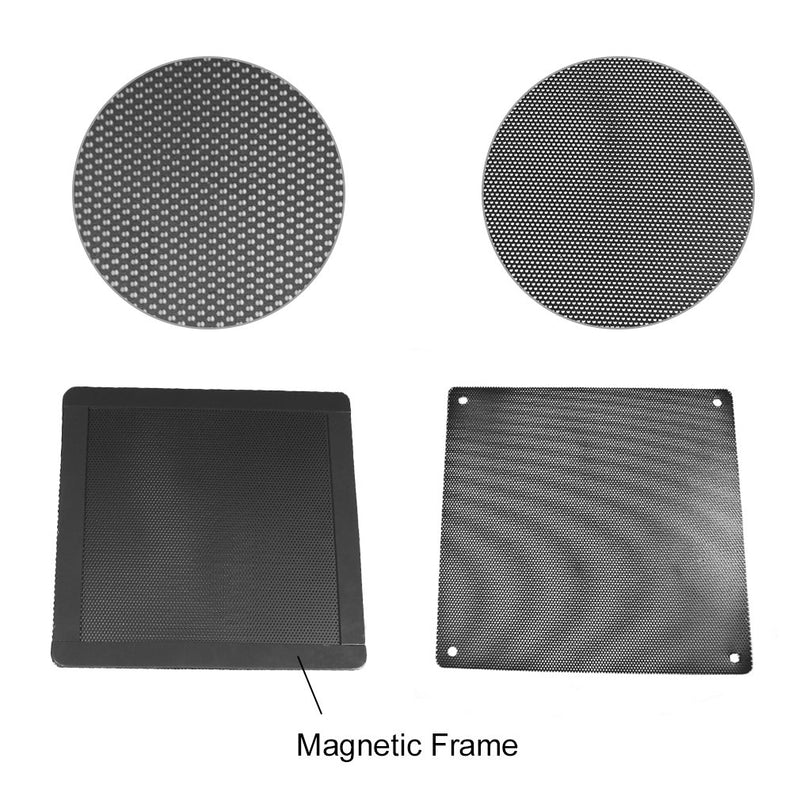 Australia AIYUE 120mm Magnetic Frame PC Fan Dust Filter Dust Filter Fan Filter PC Cooler Filter Black Dustproof Case Cover Computer Mesh Computer Fan Grills 4 Pack…