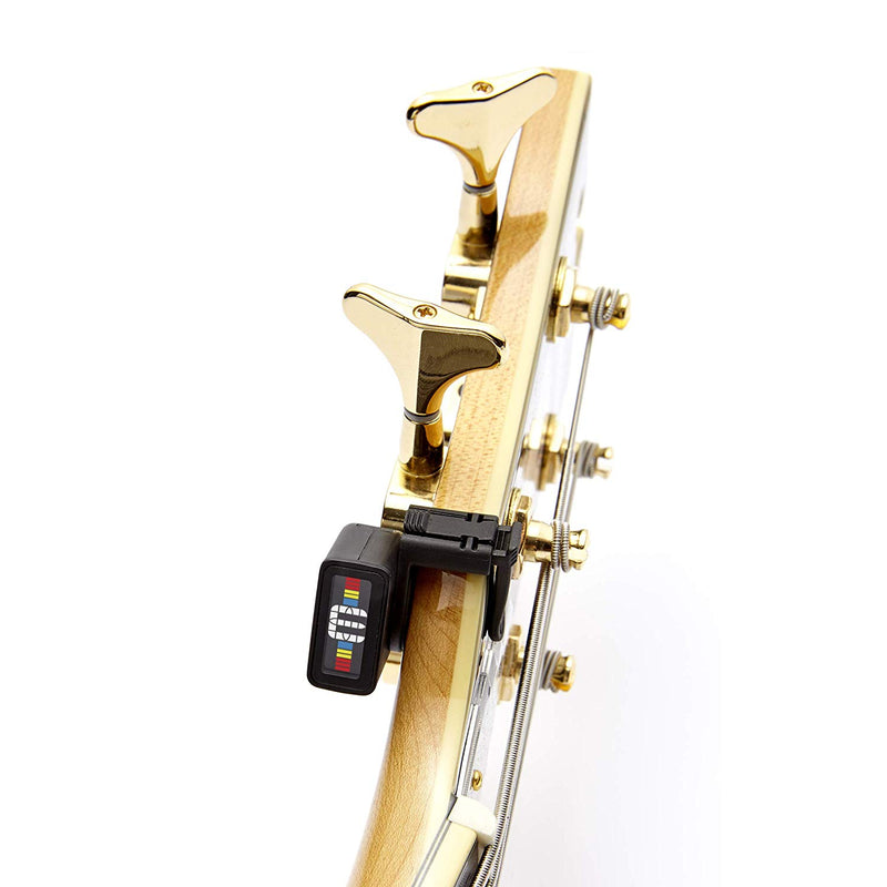 Australia D'Addario NS Micro Clip-On Tuner Highly Precise, Easy to Read, Clip-On Tuner for Guitar, Mandolin, Bass and More Wide Calibration Range and MetronomeCompact Low-Profile Design
