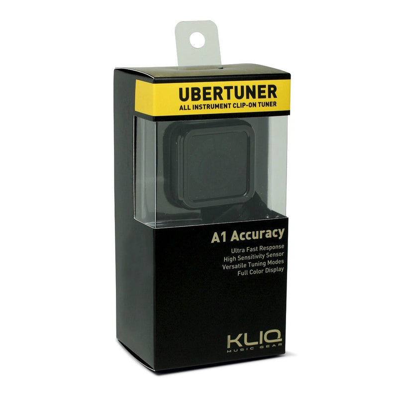 KLIQ UberTuner Clip-On Tuner for All Instruments Chromatic Tuning Mode