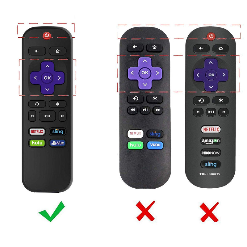 [2-Pack] AKWOX Protective Case for Roku Express Remote,[Anti Slip] Shock  Proof Silicone Cover Case with Lanyard for Roku Express/Roku Premiere