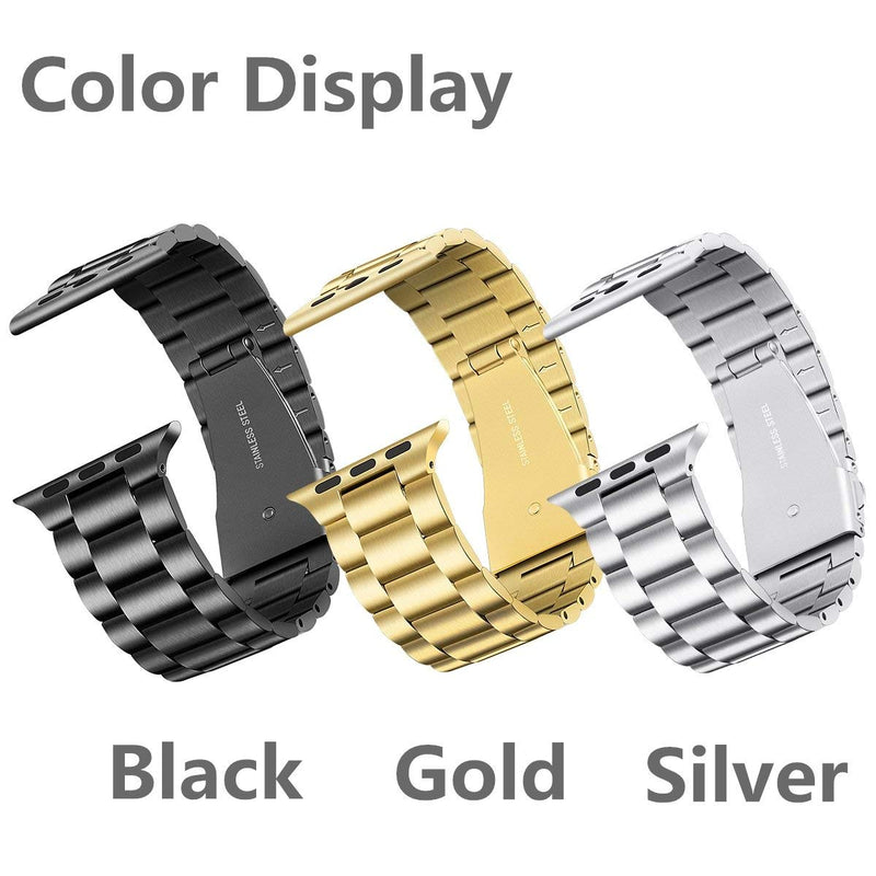 for Apple Watch Band 38mm 40mm, Upgraded Version Solid Stainless Steel Metal Apple Watch Strap Business Replacement iWatch Strap for Apple Watch Series 1/2/3/4 Sport and Edition