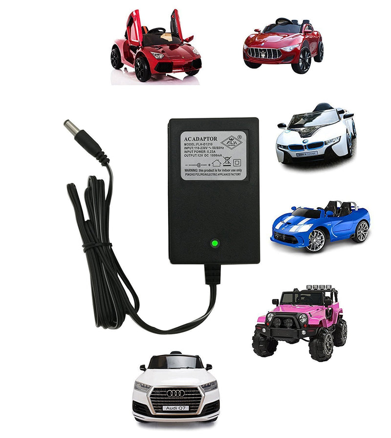 Australia FLH 12 Volt Charger for Kids Ride On Toys 12 Volt Universal Battery Charger for Products Mercedes Benz BWM Audi Maserati Children Powered Ride On Toys Adapter with Charging Indicator Light