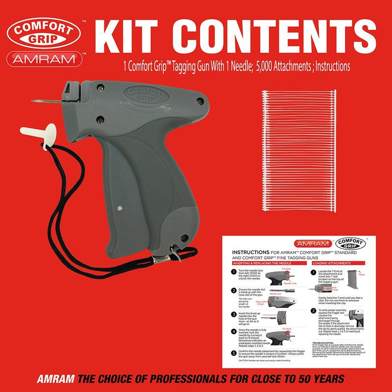 83dc6dd9f1fd Amram Comfort Grip Standard Tagging Gun Kit. Includes 5000 2