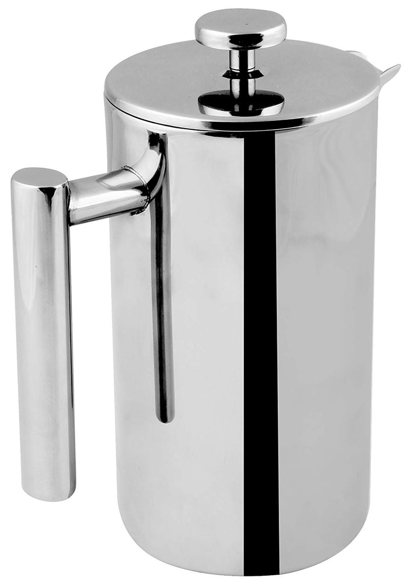 French Coffee Press - Double Walled 32 oz Espresso & Tea Maker - 100% Stainless Steel - by Utopia Kitchen