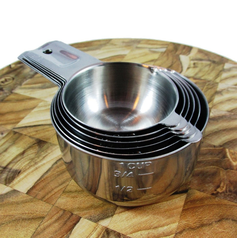 Australia ChefsGrade Stainless Steel Measuring Cups - Highly Polished Exterior, Satin Interior, 6 Piece Set