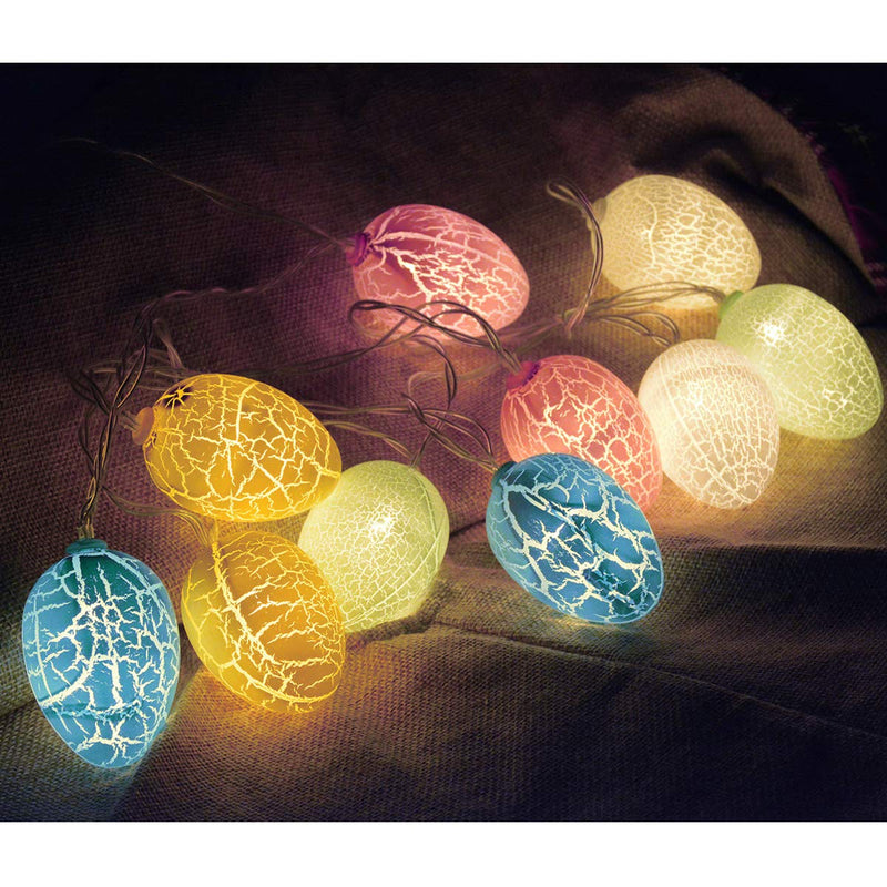 Australia Chasgo 10 LED Easter Decorations Eggs Lights Battery Operated, Colorful Decorative Easter Eggs Lights String for Easter Tree Decor, Easter Home Decor, Easter Party Decor, Warm White