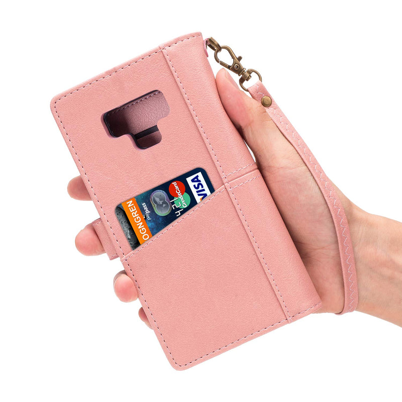 Australia Galaxy Note 9 Case, Soft Leather [9 Card slots][Retro Technology][photo & wallet pocket]