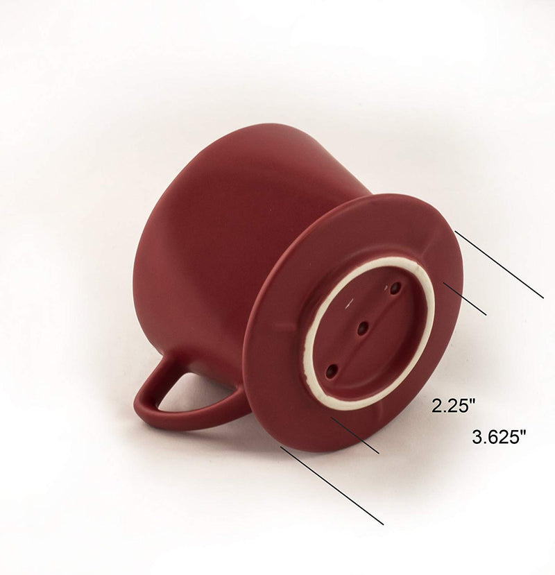 HIC Filter Cone, Matte Red, Number 1-Size, Brews 1 to 2-Cups