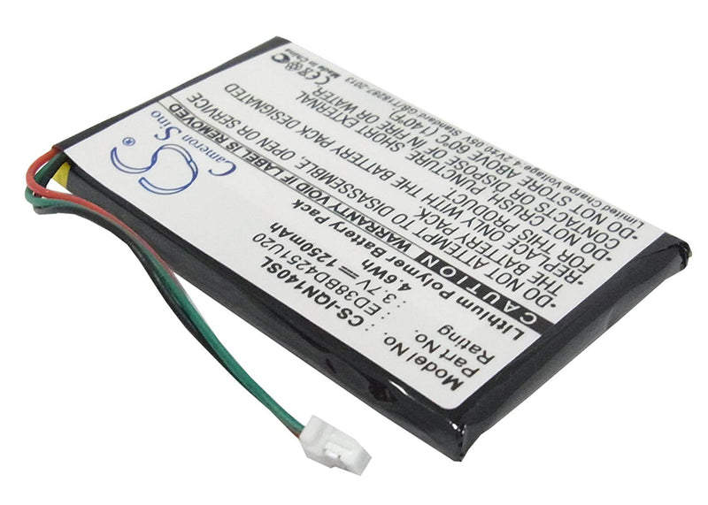 Cameron Sino Replacement 1250mAh GPS Navigator Battery For Garmin Nuvi 1400 1450 1450T , 1490T Pro, 1490LMT, fit ED38BD4251U20 With Tools Kit
