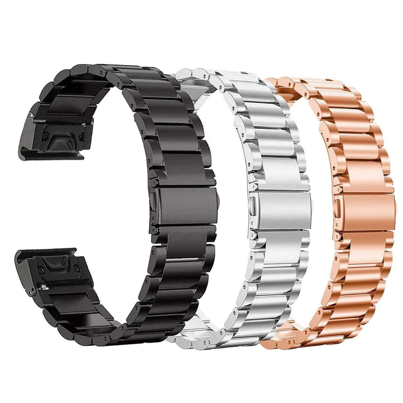 Australia Fenix 5S Watch Band, YOOSIDE 20mm Easy Fit Stainless Steel Metal Bling-Bling Quick Release Watch Band Strap for Garmin Fenix 5S/5S Plus,Fit Wrist 4.7-8.2 inch (Metal Rose Gold)