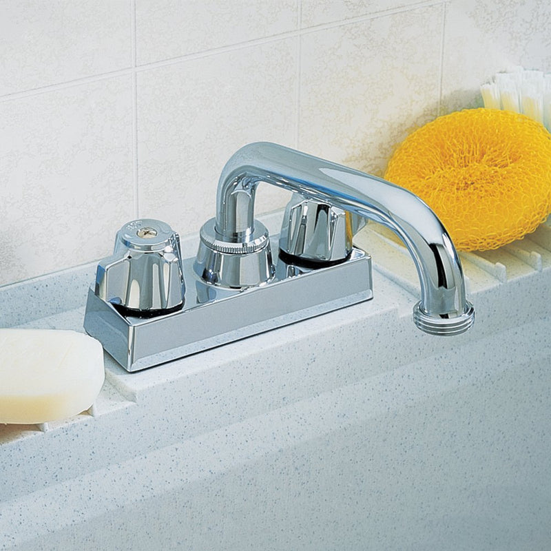 Australia Aqualife Washerless Swivel Spout Two Handle Utility Faucet - Chrome