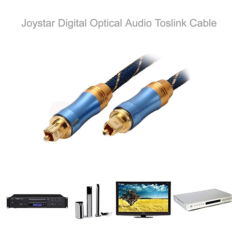 Australia Gold Plated Optical TOSLINK Digital Audio Cable With Metal Connectors Durable Layer Nylon Mesh Jacket (1.5M, LSYJ)