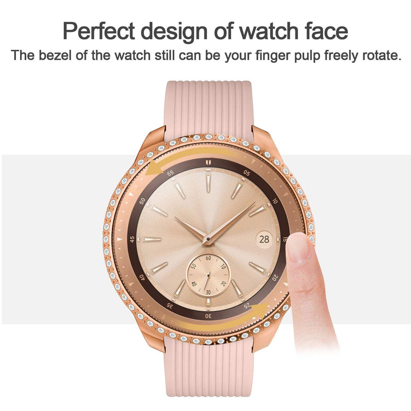 Australia Yolovie Compatible with Samsung Galaxy Watch 46mm 42mm Case, Gear S3 Frontier Case (NOT fit for SM-R770) Bling Crystal Rhinestone Bumper Shell PC Protective Cover Shiny Diamond Cases Women Girl Rose Gold For Galaxy Watch 42mm
