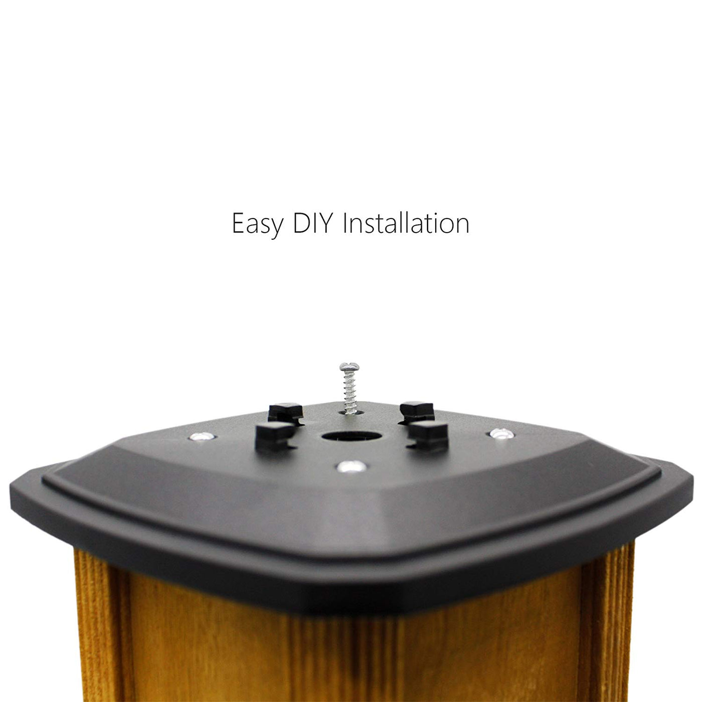 Davinci Solar Post Lights ... Outdoor Post Cap Light for Fence Deck or Patio