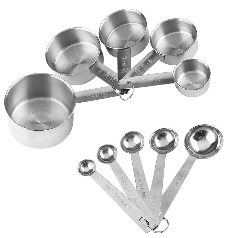 Australia Stainless Steel Measuring Cups And Measuring Spoons 10-Piece Set, 5 Cups And 5 Spoons (2)