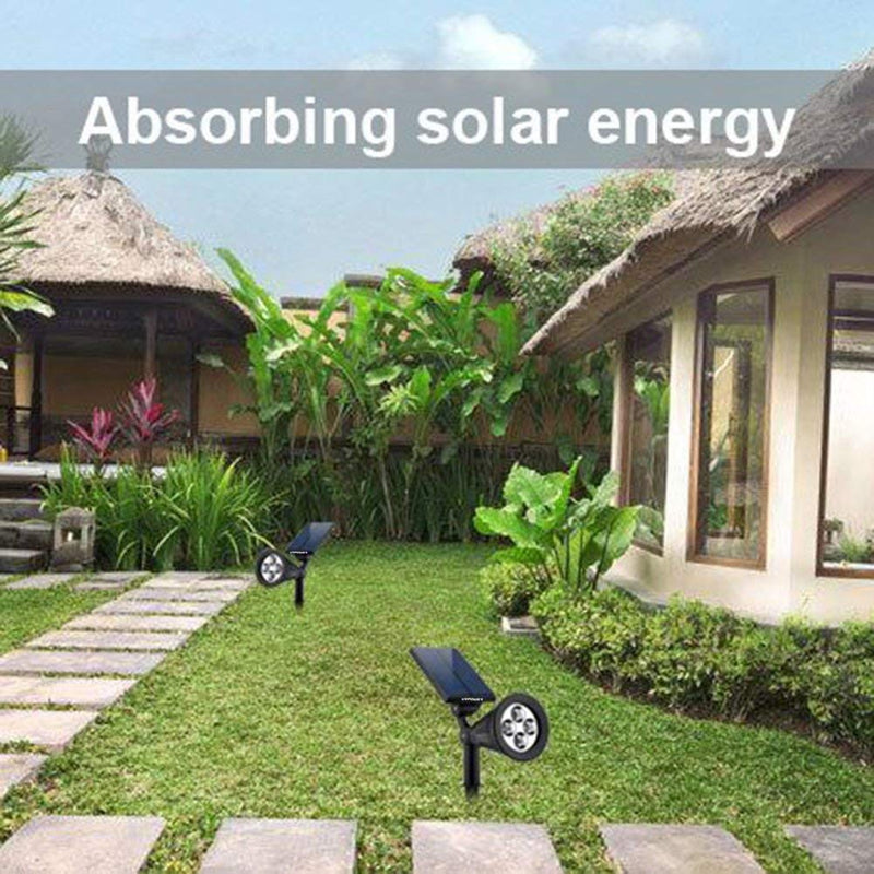 URPOWER Solar Lights 2-in-1 Powered 4 LED Adjustable Spotlight Multi