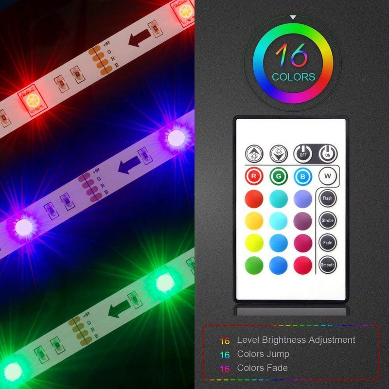 Australia LED TV Backlight, Maylit 2M/6.56ft RGB Neon Accent LED Lights Strips for 40 to 60 in HDTV Neon Light Bias Lighting with Remote, USB LED Strips TV Backlight