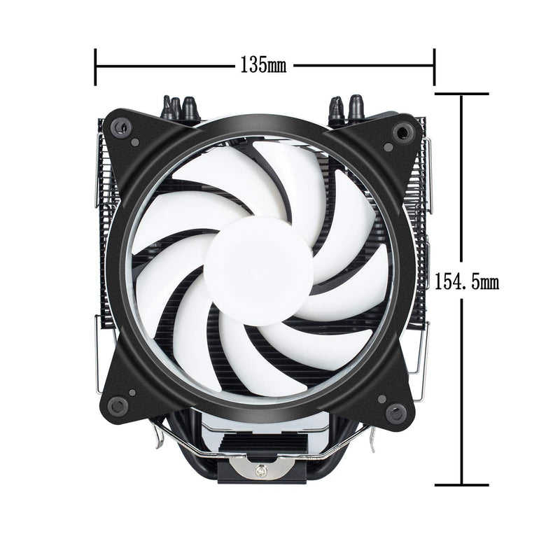 upHere New RGB CPU Cooler with 4 Direct Contact Heatpipes