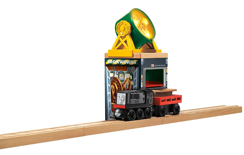 Australia Fisher-Price Thomas & Friends Wooden Railway, Lights & Sounds Ironworks - Battery Operated