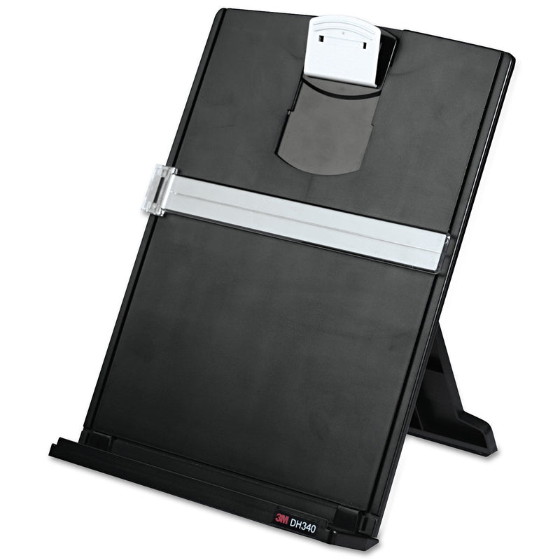 Australia 3M Desktop Document Holder with Adjustable Clip, Holds Letter, Legal and A4 Documents, Bottom Ledge Has Lip to Keep up to 150 Sheets Securely in Place, Folds Flat for Storage, Black (DH340MB) - CocoonPower Australia