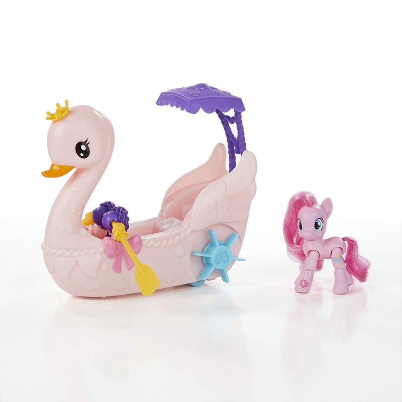Australia My Little Pony Friendship is Magic Pinkie Pie Row & Ride Swan Boat Set