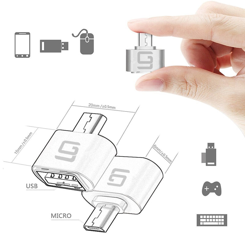 Australia USB Adapters [4 pack] | USB Type C to USB 3.0 (Space Gray) and Micro USB to USB 2.0 (Silver) | Compatible MacBook Pro Air, Dell, ASUS, Chromebook, Samsung Galaxy, Google Pixel, Ledger S/KeepKey/Trezor