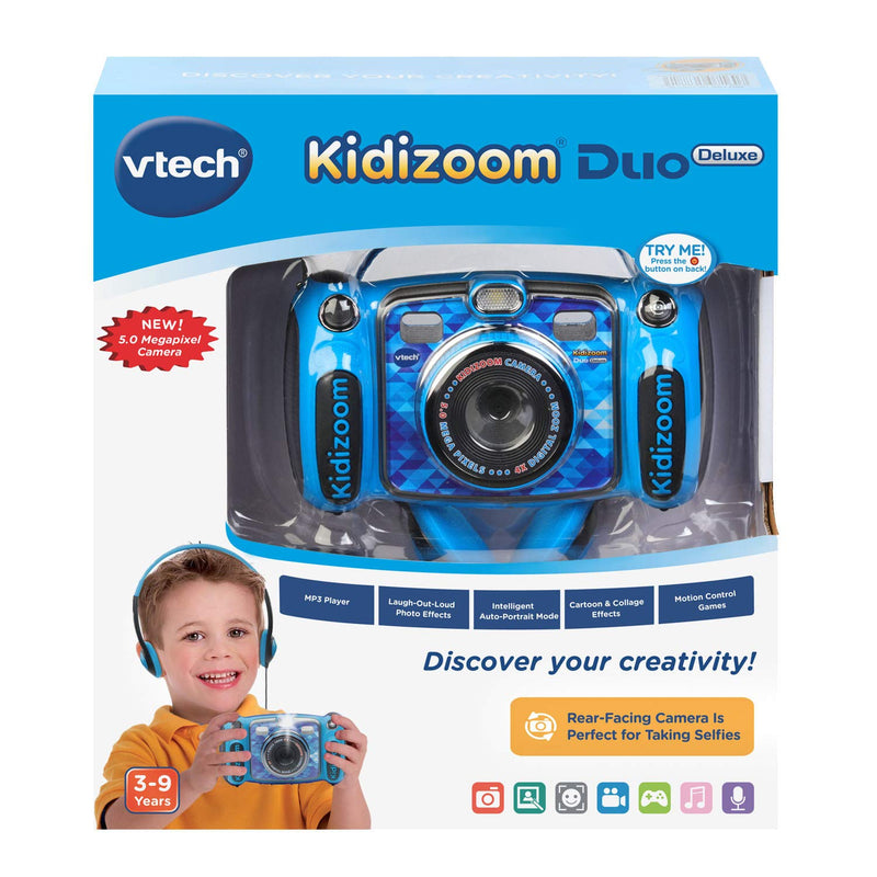 Australia VTech Kidizoom Duo 5.0 Deluxe Digital Selfie Camera with MP3 Player & Headphones, Blue