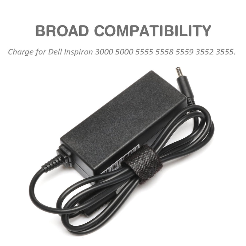Australia BatteryMon 45W 19.5V 2.31A Laptop Charger for Dell Inspiron 11 3147 3152 3153 3157, Inspiron 13 7348 7352 7353 7359, Inspiron 15 3551 i3551 3552 i5555 i5558 7558 7568 Notebook PCwith Power Supply Cord