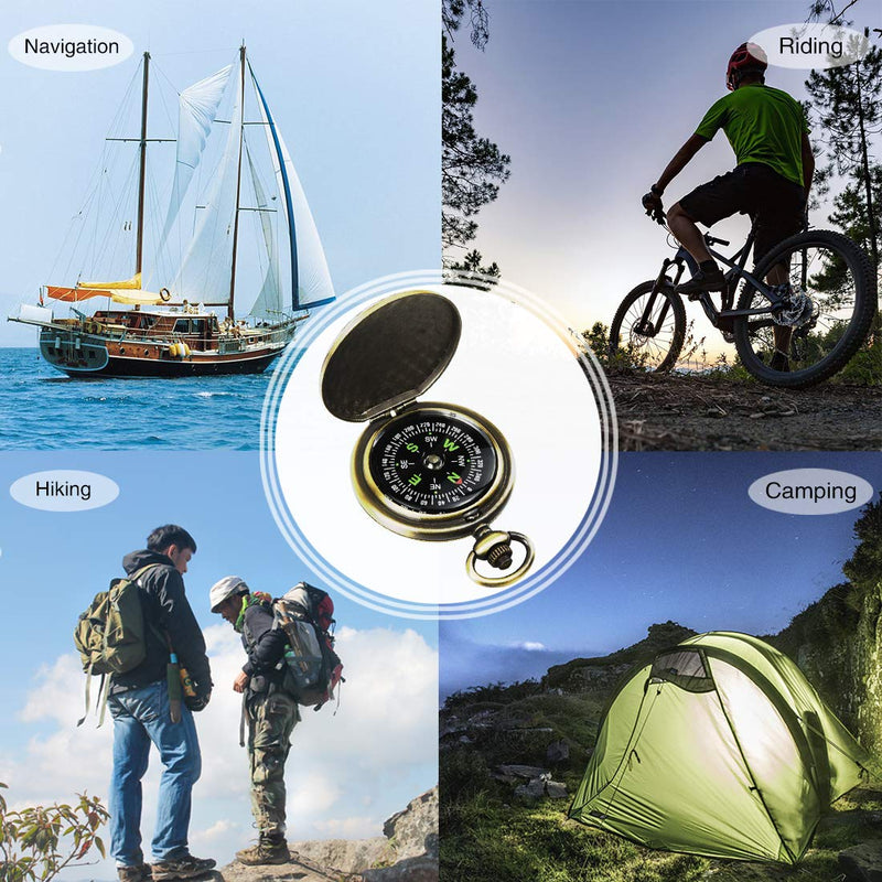 Australia Leabertee Multifunctional Zinc Alloy Classic Compass for Hiking, Camping, Motoring, Boating, Backpacking, Gift and Collection