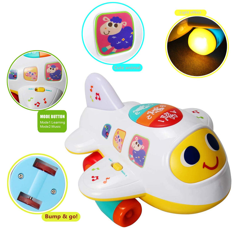 Australia HOMOFY Baby Toys Electronic Airplane Toys with Lights & Music Best Kids Early Learning Educational Toys for Toddlers Boys and Girls 1 2 3 4 5 Year Old (1)