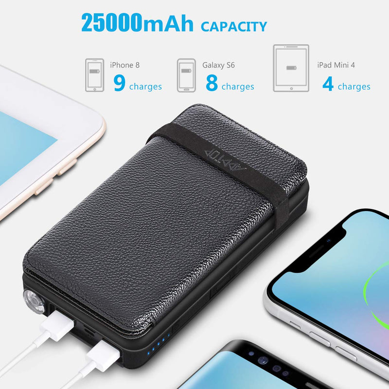 Australia Solar Charger 25000mAh ADDTOP Portable Solar Power Bank with Type-C Input for Smart Phones, Ipad, Laptop and Outdoor Waterproof