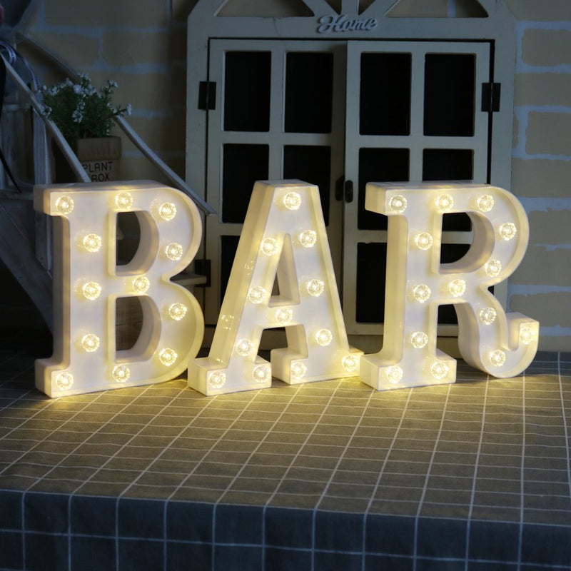 Australia BAR - Illuminated Marquee Bar Sign - Lighted LED Marquee Word Sign - Pre-Lit Pub Bar Sign Light Battery Operated (23.03-in x 8.66-in) (White BAR - Diamond Glow)