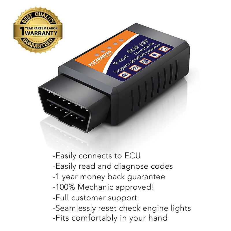 KOBRA Products Wireless OBD2 Car Code Reader Scan Tool (2-Pack)