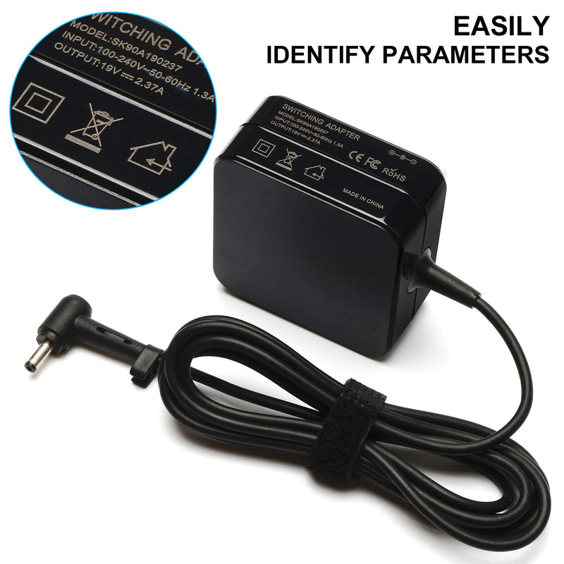 Australia SOLICE 19V 2.37A 45W Laptop Power AC Adapter Charger for Asus Zenbook UX305 UX21A UX32A Series Taichi 21 31 Asus Transformer Book Flip T300LA TP300LA Fits:ADP-45AW A 4.01.35mm