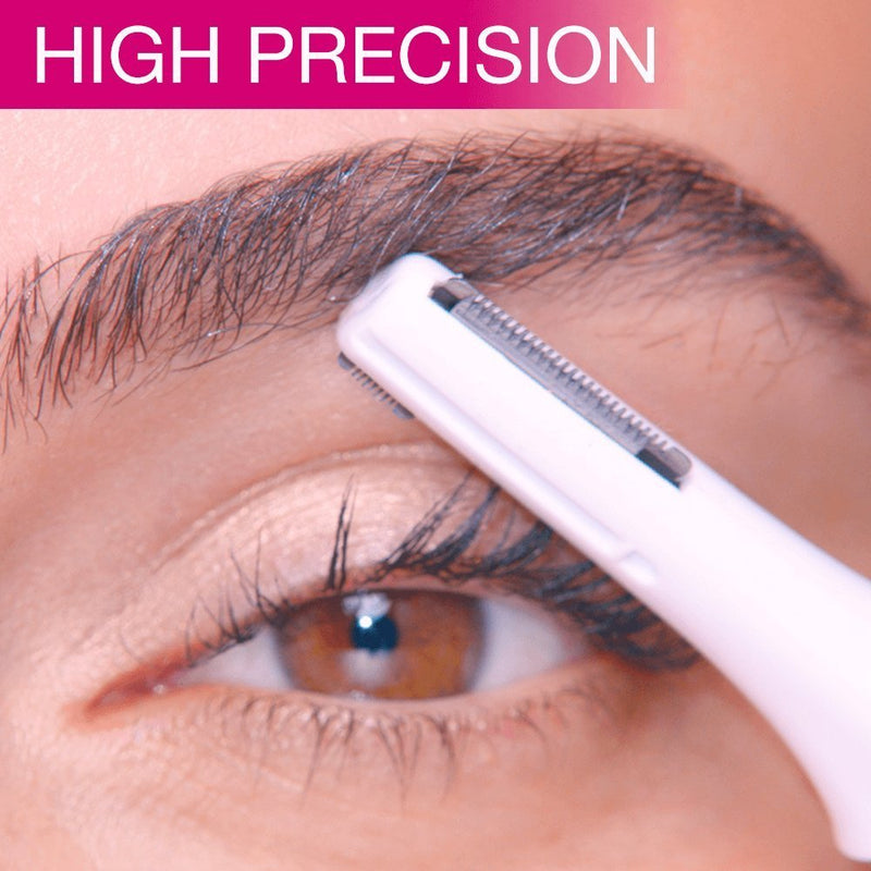 Veet Sensitive Precision Hair Trimmer Beauty Styler: Eyebrow trimmer & shaper, facial hair trimmer, bikini line trimmer, and underarm trimmer all-in-one, Bag & Battery Included, Waterproof